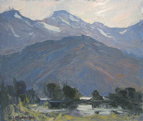 Photo of William John Hopkinson oil painting called Evening at Edgewater, B.C.