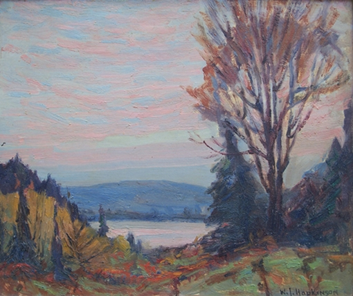 William John Hopkinson painting Evening, Grass Lake