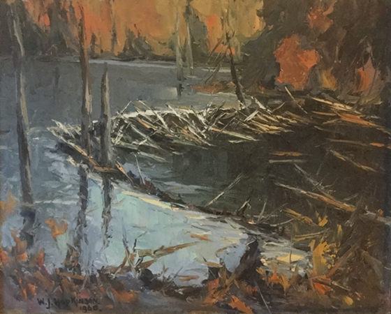 Photo of William John Hopkinson painting called Beaver Dam, near Birchy Lake, Haliburton