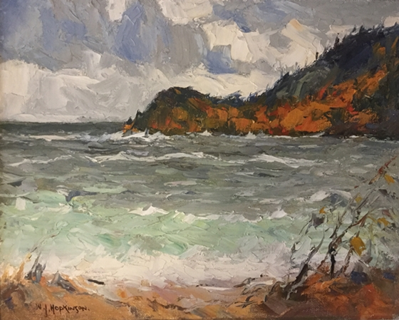 Photo of William John Hopkinson painting called Old Woman's Bay, Lake Superior